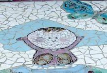 kindergrafsteen in mozaiek nijmegen
